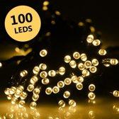 Partyverlichting - kerstverlichting - LED - met zonnepaneel - Warm Wit - 100 LEDs - DisQounts