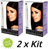 2 x KHS Keratin Home System Smoothing Straight System Kit - 400 ml - Haarcrème