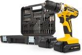 Powerplus POWX00820 Accuboormachine - 20V Li-ion - incl. 2 accu's - met  74 accessoires