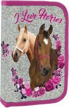 Animal Pictures Paarden - Etui gevuld - 22 stuks - Grijs