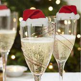 Kerstmuts Glasversiering Glasmarker - 10 Stuks - Wijnglasdecoratie