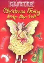 Glitter Christmas Fairy Sticker Paper Doll