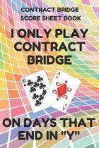 Contract Bridge Score Sheet Book