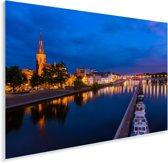 Verlichting in de avond in het Nederlandse Maastricht Plexiglas 90x60 cm - Foto print op Glas (Plexiglas wanddecoratie)
