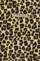 Khadija: Personalized Notebook - Leopard Print (Animal Pattern). Blank College Ruled (Lined) Journal for Notes, Journaling, Dia