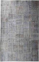 Vintage patchwork vloerkleed grijs - Afmeting: 307 x 197