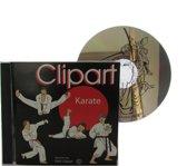 Cd-rom met Karate cliparts