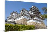 Eeuwenoud Aziatisch kasteel in Japan Aluminium 90x60 cm - Foto print op Aluminium (metaal wanddecoratie)