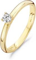 Blush ring 1112YZI  - maat 60 - 14 krt geelgoud met zirkonia