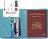 Paspoorthouder / Paspoorthoesje / Passport Wallet - V1 - Lichtblauw