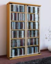 vitrinekast verzamelkast galerie met glasdeuren beuken