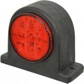 Breedtelicht LED rechts rood/wit 67mm