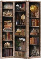 Fine Asianliving Kamerscherm Scheidingswand 3 Panelen Boekenkast