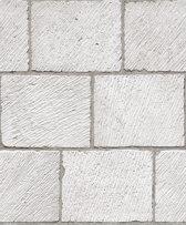 Dutch Wallcoverings vinylbehang beton/baksteen - grijs