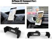 DrPhone V2 Compact Pro - Universele Telefoon Houder voor Ventilatie Rooster - Autohouder Geschikt voor o.a. Samsung A50 , iPhone XR ,  Samsung S10 etc Universeel