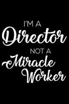 I'm a Director Not a Miracle Worker
