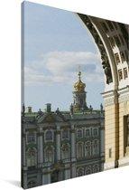 Het Hermitage museum in Sint-Petersburg Canvas 40x60 cm - Foto print op Canvas schilderij (Wanddecoratie woonkamer / slaapkamer)