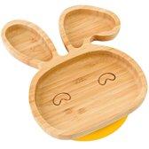AWEMOZ® Bamboe Kinderbord - Konijn - Bord met zuignap