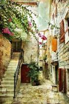 Courtyard in Croatia Journal