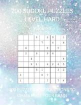 200 Sudoku Puzzles Level Hard Volume 6