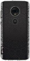 Casetastic Softcover Motorola Moto G7 / G7 Plus - Black Mandala