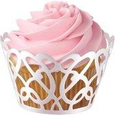 Wilton Cupcake Wraps White Pearl Swirls pk/18