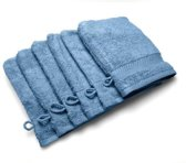 Casilin Royal Touch - Washandje - Jeans - 16 x 22 cm - Set van 6