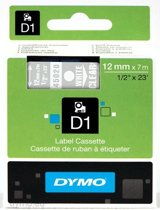 DYMO S0720600 labelprinter-tape Wit op transparant