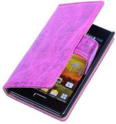 Bestcases Vintage Pink Book Cover LG Optimus L5