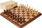 Exclusieve Luxe Staunton schaakset - Bord, stukken en teak-box