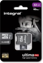 Integral UltimaPro 32GB Micro SDHC Card - Class 10 - 90MB/s + SD Adapter