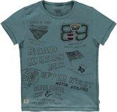 America Today Jongens T-shirt Egan - Blauw - Maat 158/164