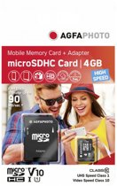 AgfaPhoto Mobile High Speed 4GB Micro SDHC Class 10 (+ Adapter)