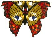 Oogmasker bonte vlinder per stuk