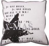 In The Mood Sierkussen XMas Text - 50x50 cm - Antraciet