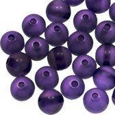 Resin Kralen (8 mm) Dark Purple Shine (50 Stuks)