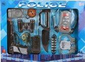 Jonotoys Politieset Zwart/grijs 14-delig