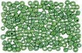 Rocailles, afm 8/0 , d: 3 mm, groen, 25gr, gatgrootte 0,6-1,0 mm