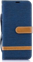 Samsung Galaxy A50 Hoesje - Denim Book Case - Blauw