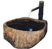 Velda Rock + Bamboo fountain Waterornament