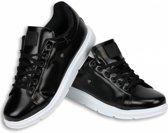 Cash Money Heren Schoenen - Heren Sneaker Skool Low - Zwart - Maten: 44