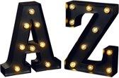 Moses Metalen Letters Met Lichtjes 2-delig A En Z
