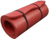 ScSports Fitnessmat - 190 cm x 60 cm x 1,5 cm - Rood