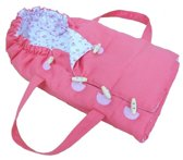 Mini Mommy Wandelwagen Tas Voor Poppen 40-50 Cm Roze