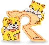 Alfabet letter hout groot R | Bartolucci