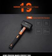 Rubber hamer met fiberlass handvat