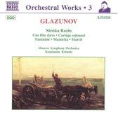 Glazunov: Complete Orchestral Works Vol 3 / Krimets, Moscow
