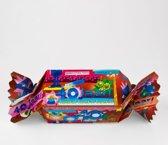 Snoeptoffee 40 jaar Man, gevuld met verse snoepmix verpakt in doorzichtige folie met gekleurd lint