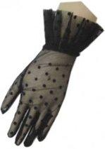 Handschoen kort kant zwart
