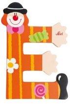Sevi Letter E Clown Oranje 10 Cm